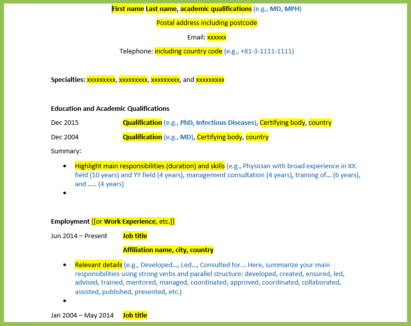 Do S And Don Ts Of Writing An Effective Cv Resume For